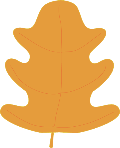 Fall Leaf Clipart Orange Oak Fall Leaf Clip Art