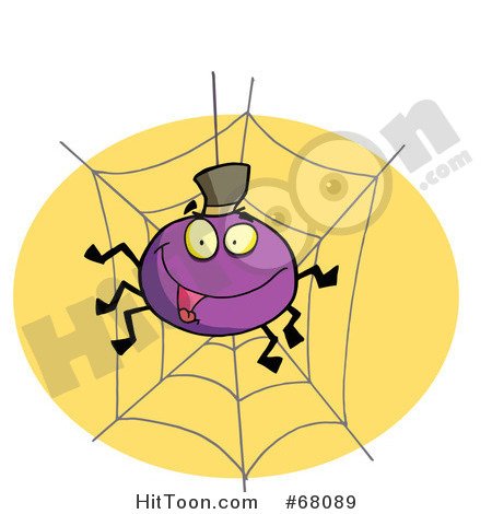 Halloween Clipart  68089  Purple Halloween Spider On A Web By Hit Toon