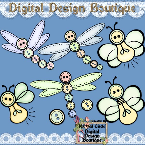 Home    Commercial Use Or Resale Clipart Ddb    Button Bugs 2 Colored