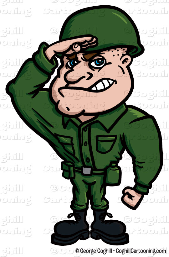 Military Cartoon Characters Soldier Cartoon Character Clip