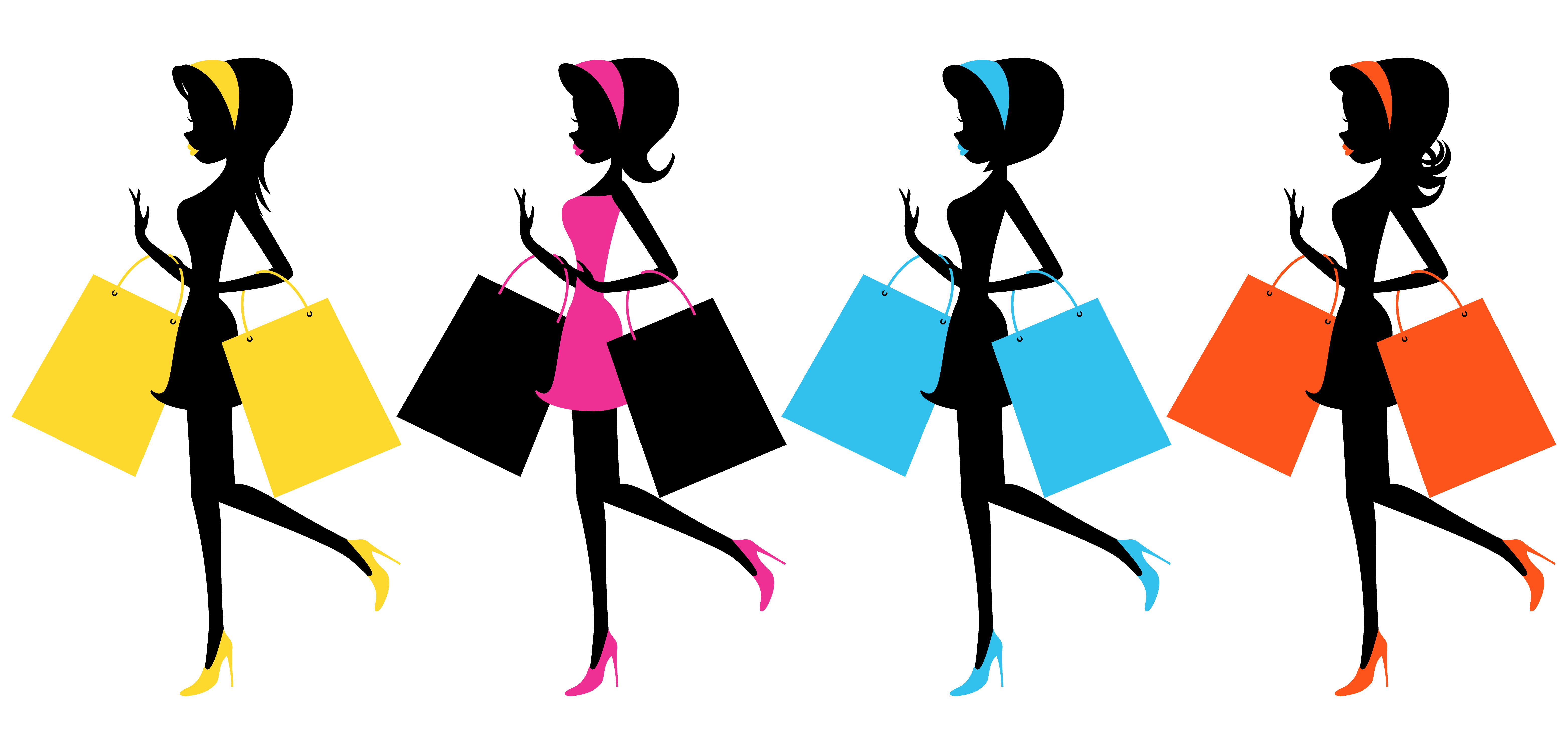 Ladies Night Shopping Clipart - Clipart Kid