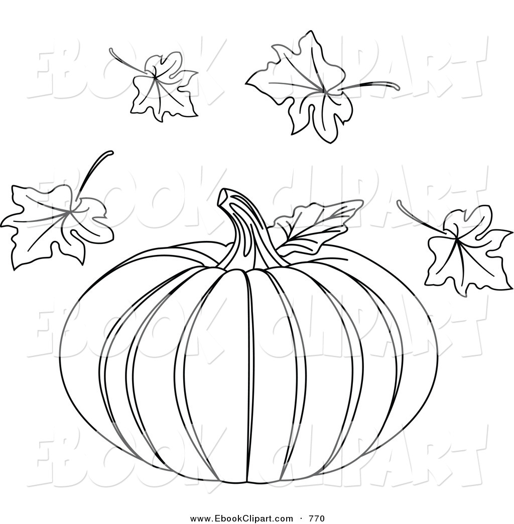 Pumpkin leaf printable clipart clipart suggest for Pumpkin leaves coloring pages