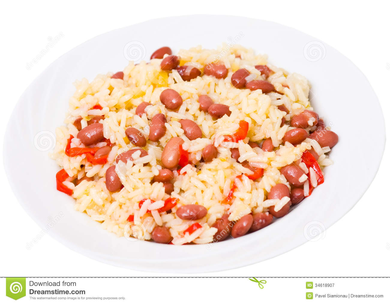 Rice With Red Beans Royalty Free Stock Photography   Image  34618907