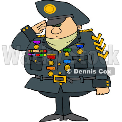 Royalty Free  Rf  Clipart Illustration Of A Military Man Saluting And