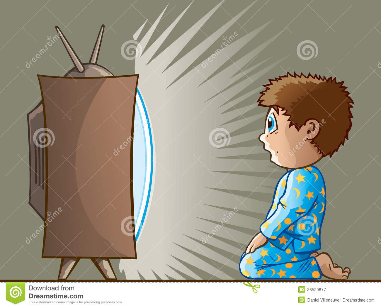 Royalty Free Stock Photography  Boy Watching Tv