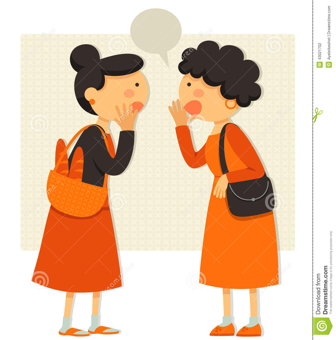 Talking Ladies Stock Vector   Image  43021702