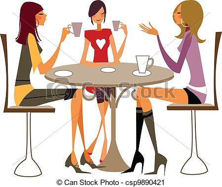 Vector Clip Art Of Close Up Of Women Sitting On Chair   There Are