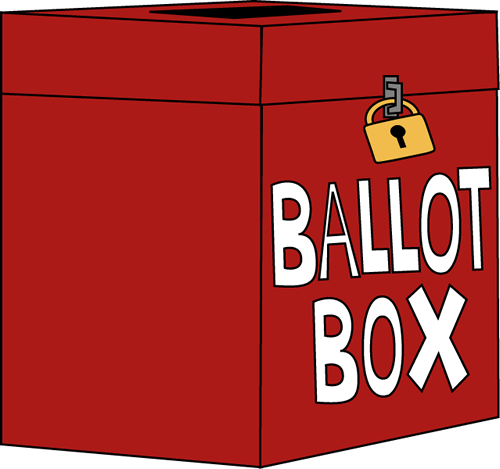 Voting Ballot Box Clip Art Image   Large Red Ballot Box With A Padlock