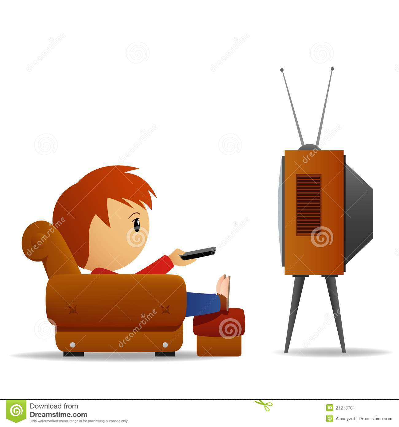 Man watching tv clipart clipart suggest for Cartoon watches