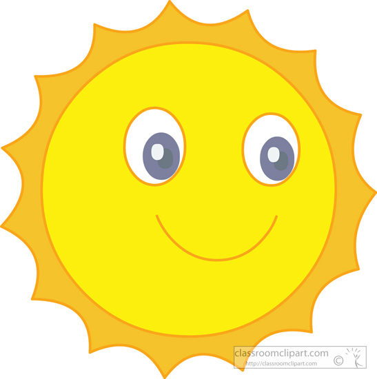 Weather   Smiling Happy Sun 317   Classroom Clipart