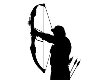 Bow Hunter Silhouette Bow Hunting Vinyl Sticker