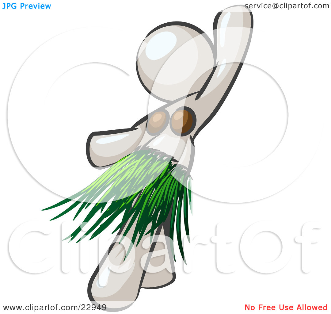 Hula Dancer Black And White Clipart - Clipart Suggest