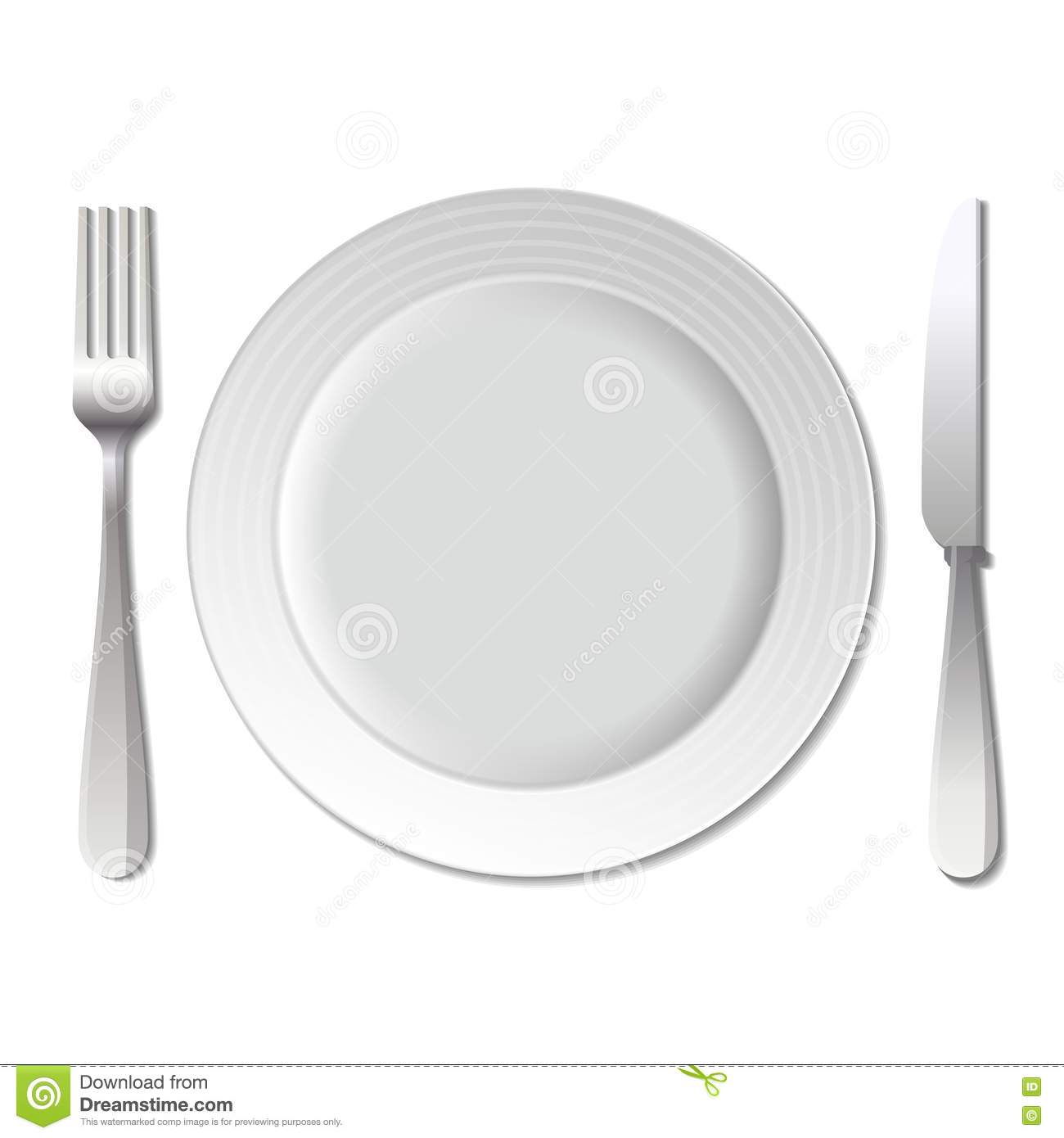 Dinner Plate Knife And Fork  Vector  Stock Image   Image  38717351