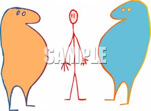Skinny And Fat People Clipart - Clipart Kid