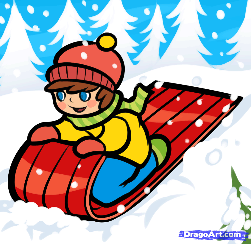 christmas sled clipart clipart suggest