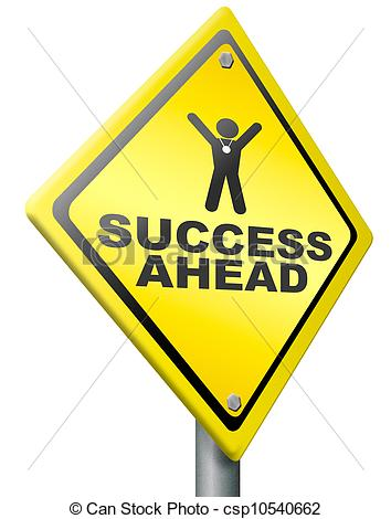 Illustration Of Success Ahead Victory And Glory   Success Ahead Road