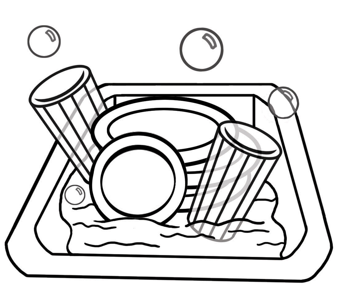 Ldsfiles Clipart  Chores   Dishes