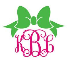Love The Bow  Preppy Bow Monogram Car Decal More