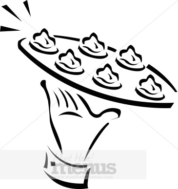 Passed Appetizers Clipart