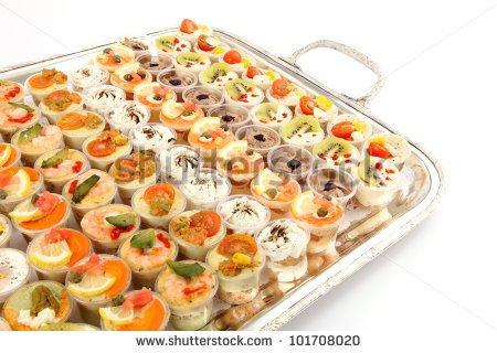 Pizza Appetizer Clipart Appetizer Canape Of Shrimps