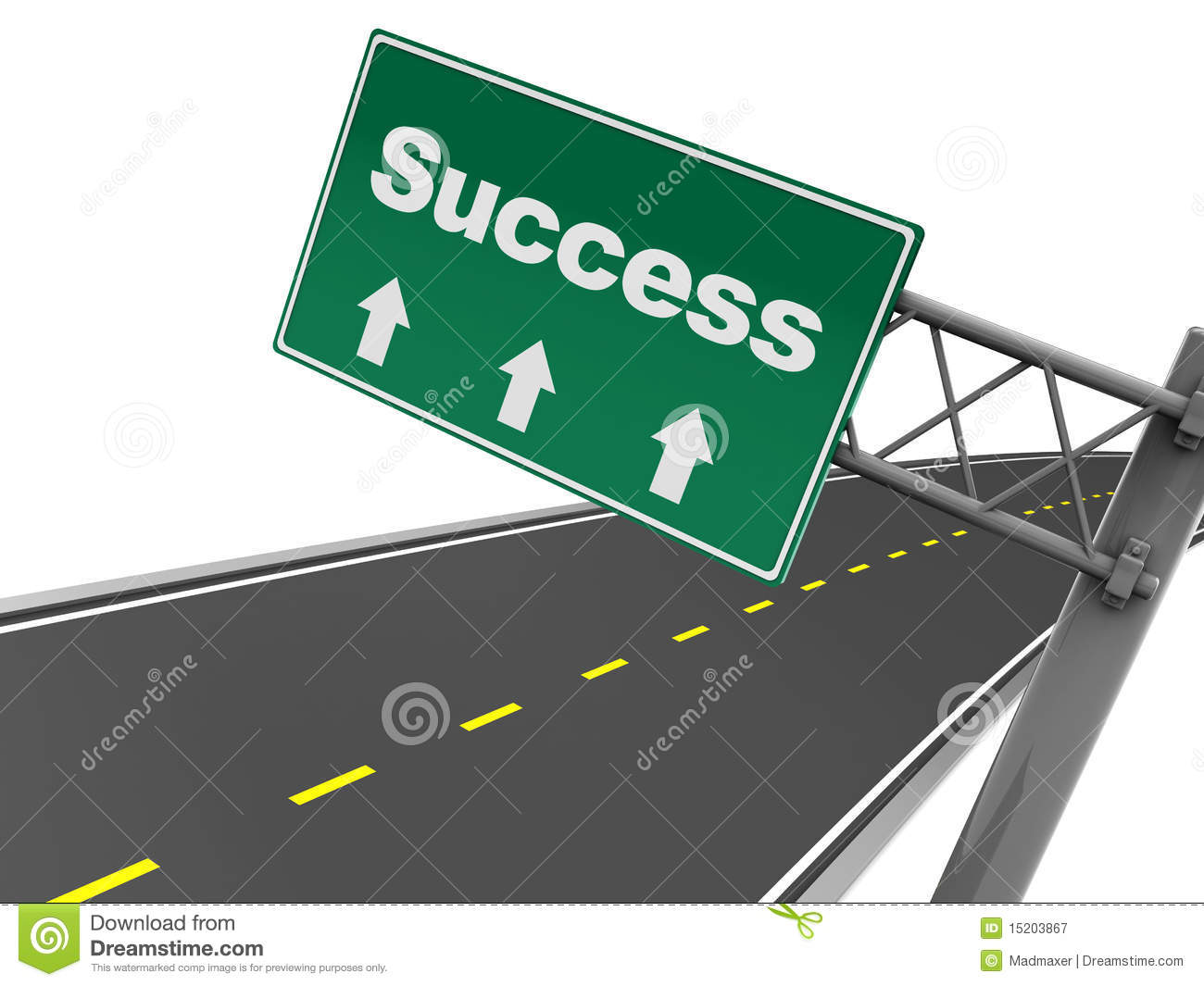 Road To Success Clipart Success Road Sign