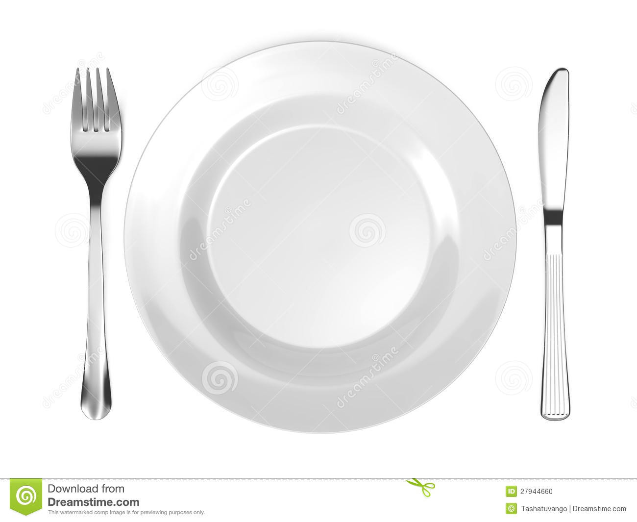 With Fork And Knife Isolated On White Background Mr No Pr No 2 517 2