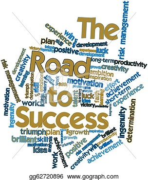 Word Cloud For The Road To Success  Clipart Gg62720896   Gograph