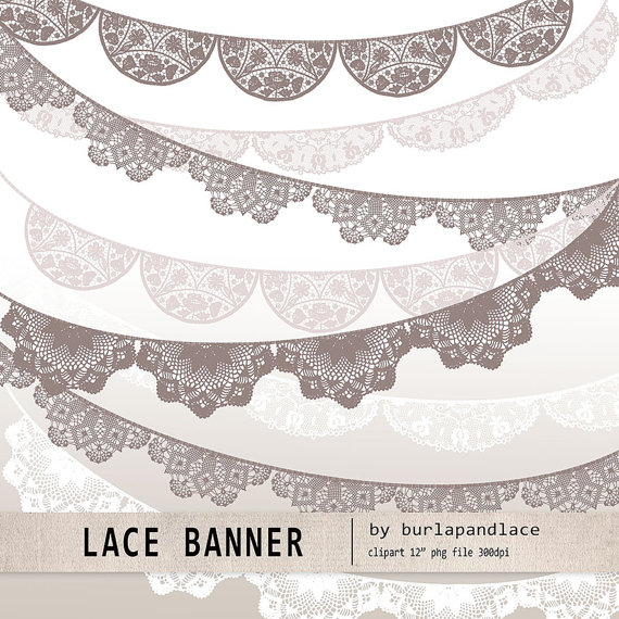 Banner Wedding Invitation Clipart Clipart Lace Lace Doile Clipart