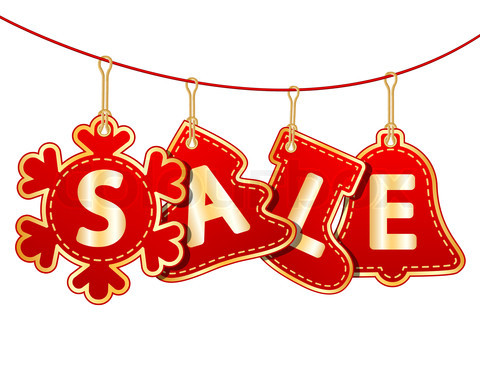 Christmas Sale Tags On Christmas Signs