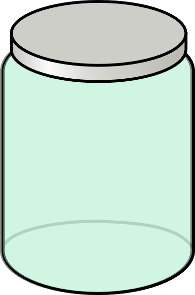 Empty Cookie Jar Clipart Light Green Jar Clip Art