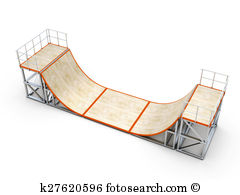 Half Pipe Ramp Illustrations And Clipart