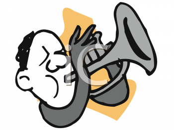 Jazz Clip Art Image  Jazz Musician Playing Trumpet