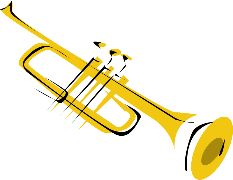 Jazz Musician Silhouette  Jazz Band Clip Art  Trumpet Player Clipart