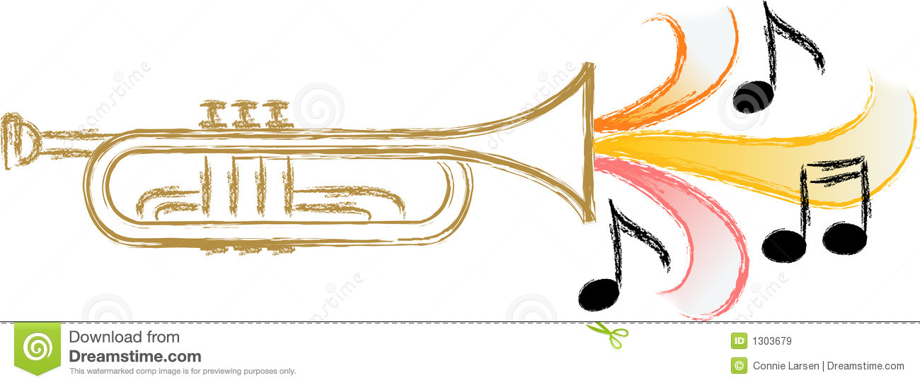 Jazz Trumpet Music Eps Royalty Free Stock Images   Image  1303679