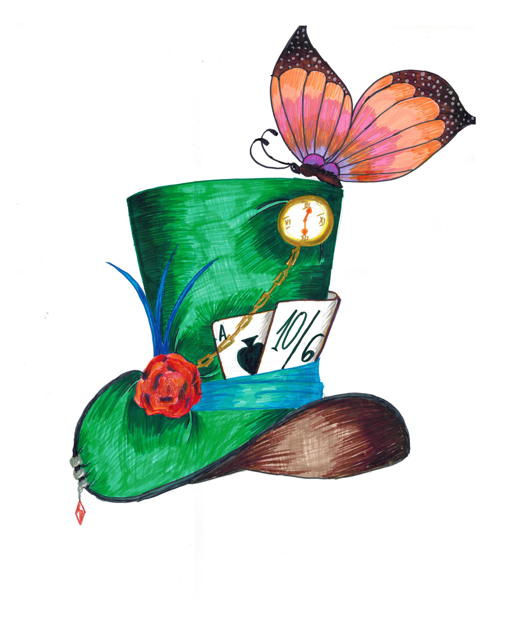 alice in wonderland mad hatter cartoon hat
