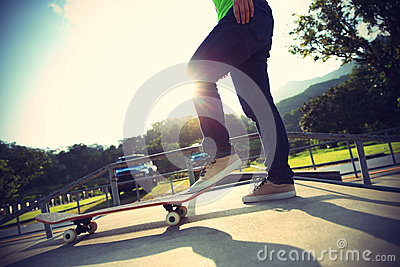 More Similar Stock Images Of   Skateboarder Legs Skateboarding