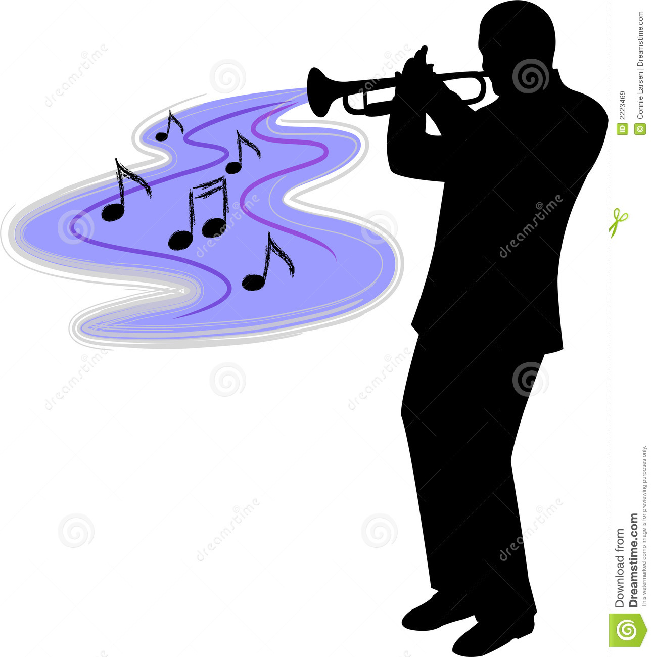 Of A Man Playing Blues Or Jazz Trumpet   Ai File Available