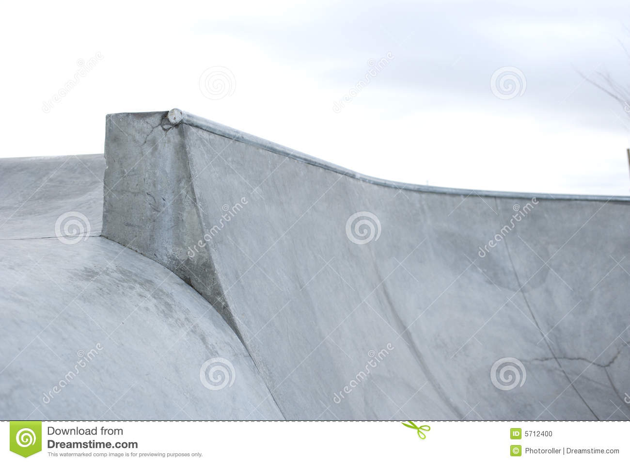 Ramp Transions At A Concreat Skatepark