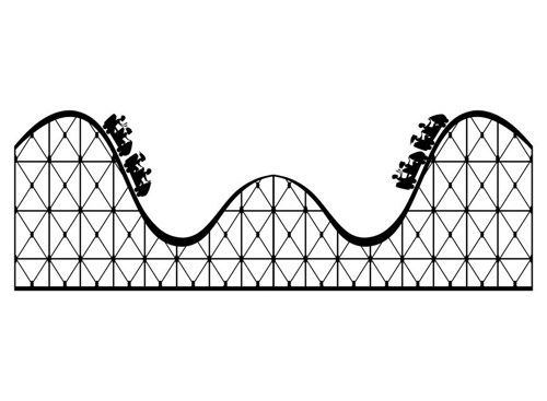 Roller Coaster Clip Art Black And White Roller Coaster