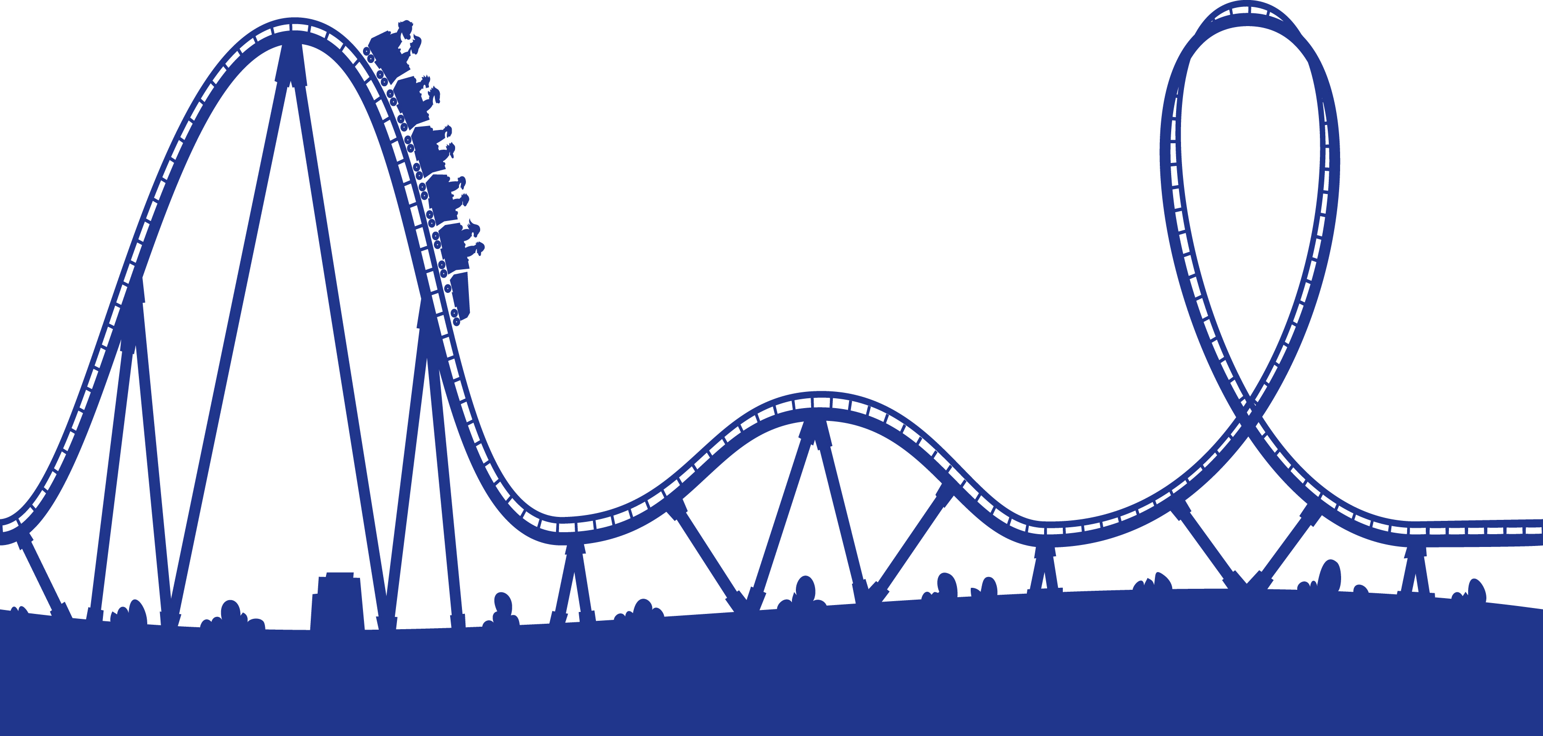 Roller Coaster Clipart - Clipart Kid