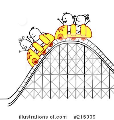 Royalty Free  Rf  Roller Coaster Clipart Illustration  215009 By Nl