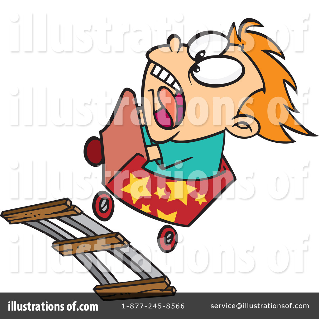 Royalty Free  Rf  Roller Coaster Clipart Illustration By Ron Leishman