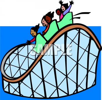 Royalty Free Roller Coaster Clipart
