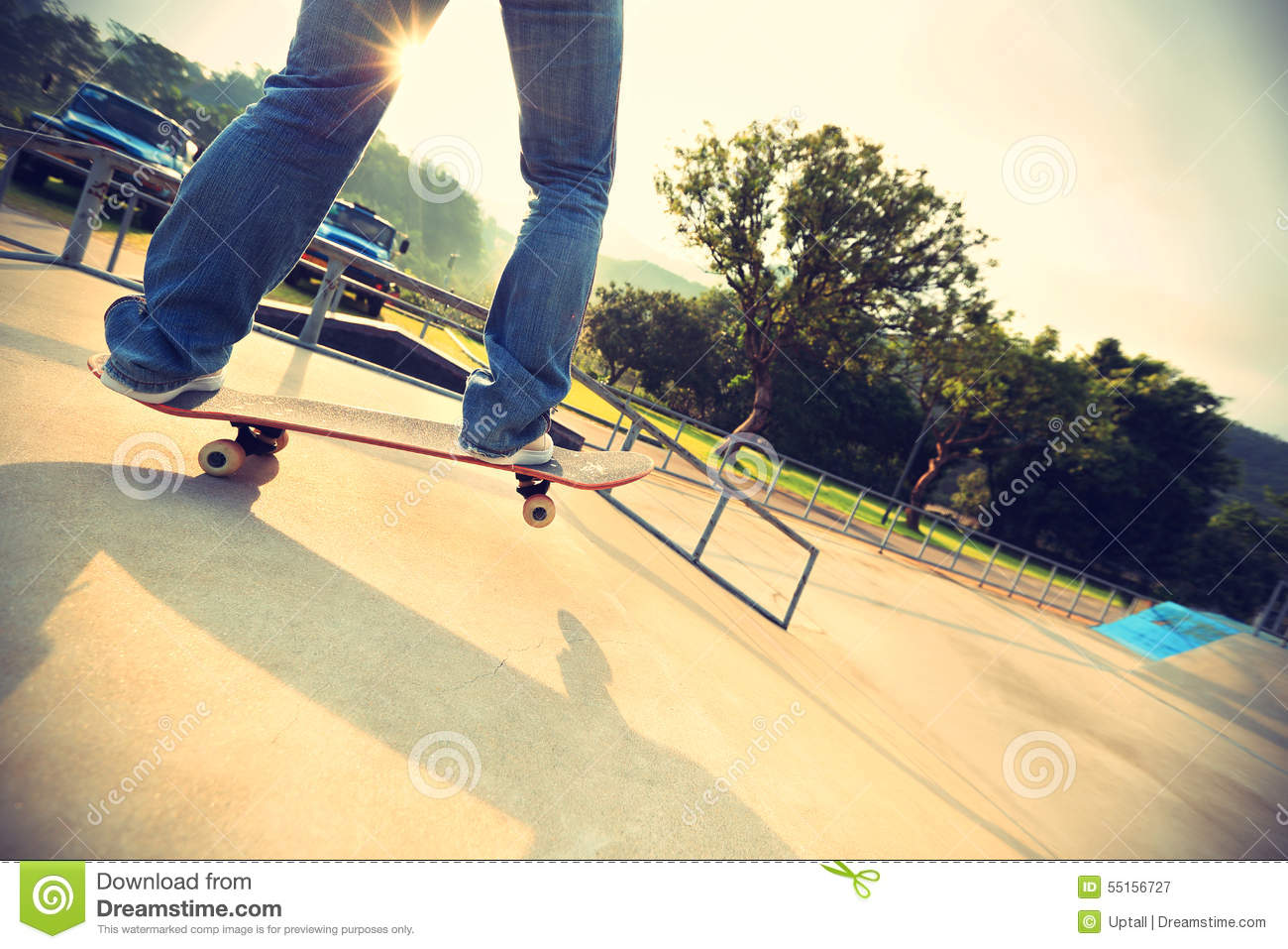 Skateboarder Legs Skateboarding Stock Photo   Image  55156727