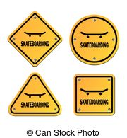 Skateboarding Signs   Suitable For Illustrations