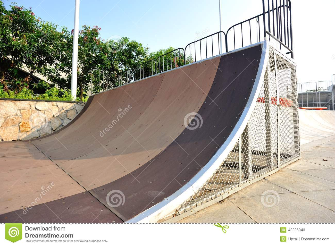 Skatepark Stock Photo   Image  48386943