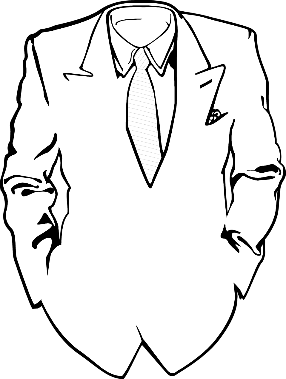 Suit And Bow Tie Drawing For Suit And Tie Drawing