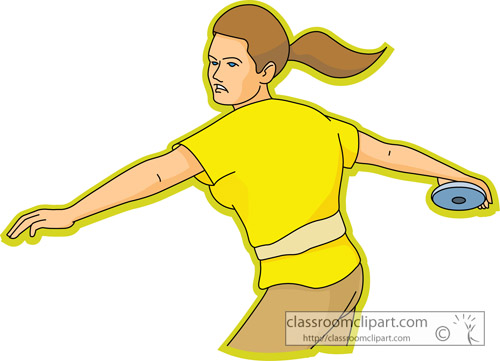 Girls track and field clipart