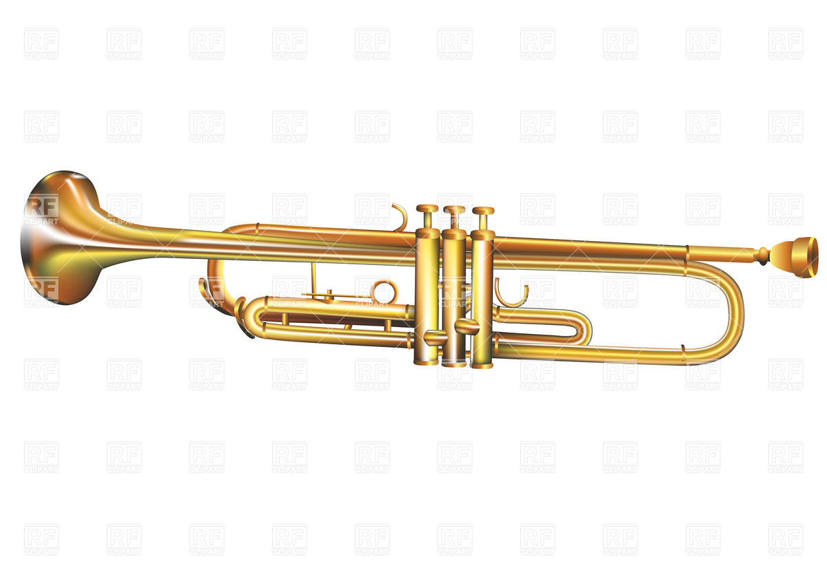 Trumpet Isolated On White Background Objects Download Royalty Free