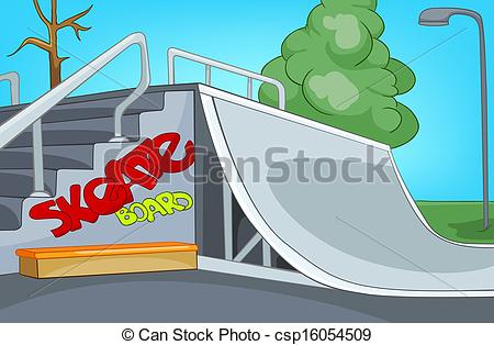 Vector   Skate Ramp   Stock Illustration Royalty Free Illustrations